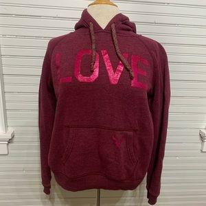 4/$20 ⭐️ American Eagle Love Hooded Sweatshirt